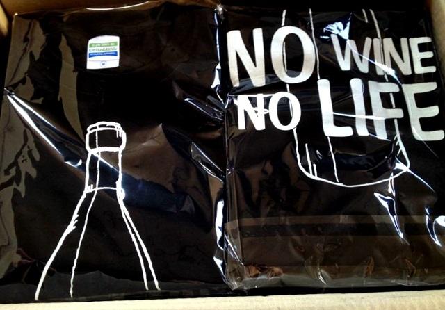 NO WINE , NO LIFE Tシャツ (L)