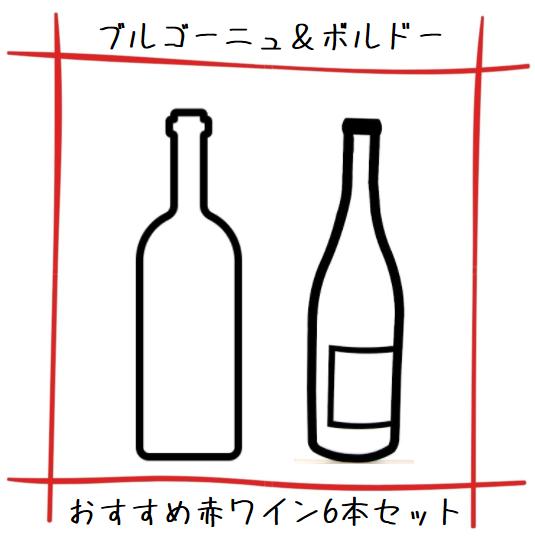 【送料無料】FUJIMARUセレクト!ブルゴーニュ&ボルドー お勧め赤ワイン 6本セット