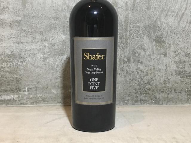 シェーファー カベルネ・ソーヴィニヨン ワン・ポイント・ファイブ スタッグスリープ ディストリクト[2012]Shafer Vineyards One Point Five12