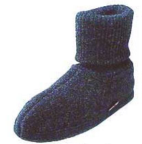 ハフリンガーウールブーツ 室内履き(ルームシューズ)チャコール