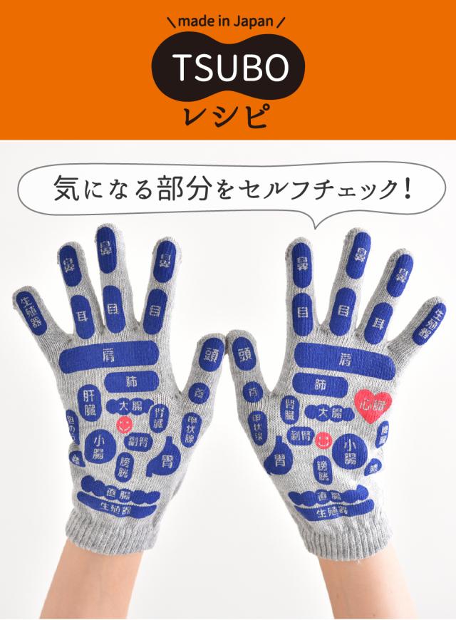 反射区手袋 つぼマップ手袋