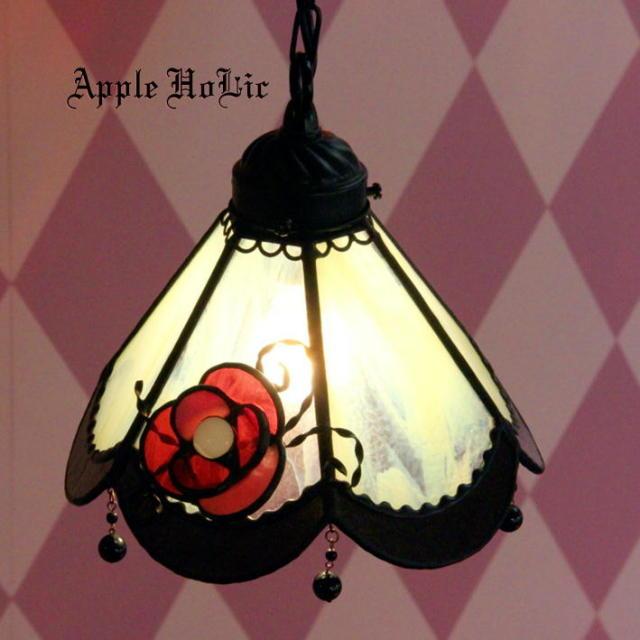 ペンダントランプ 【 ブリギッテ Brigitte 】 ステンドグラス ペンダントライト LED対応