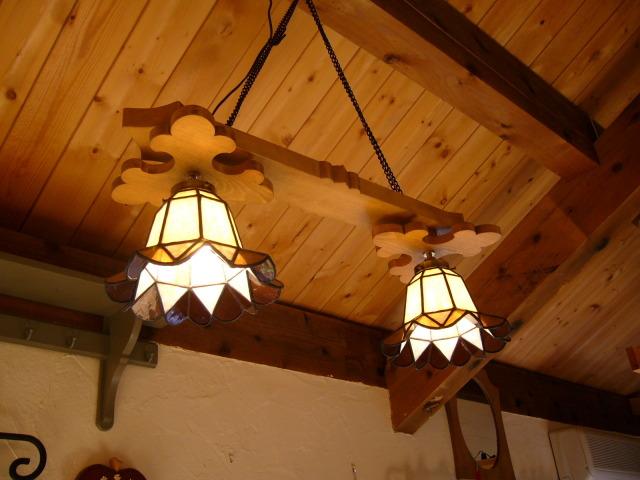 2灯ペンダントランプ 【 ベアトリクス 2Lights Beatrix 】 ステンドグラス ウォールランプ LED対応
