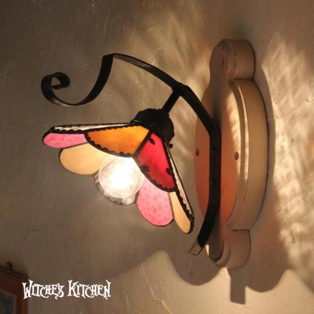 ブラケットランプ 【 Paeonia・ピオニー 】 ステンドグラス ウォールランプ LED対応