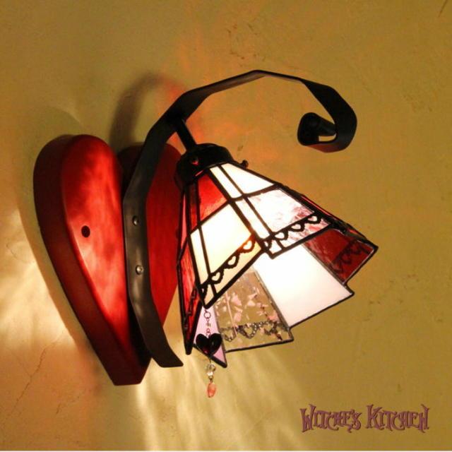 ブラケットランプ 【 ハートのジャック Jack of Hearts 】 ステンドグラス ウォールランプ LED対応