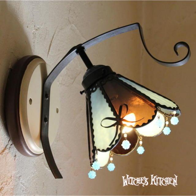 ブラケットランプ 【 マカロン・ミント Macaron Mint 】 ステンドグラス ウォールランプ LED対応