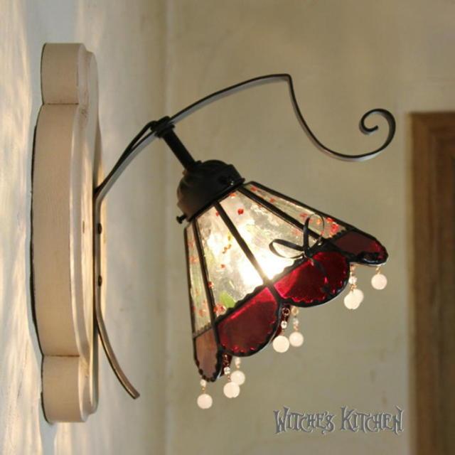 ブラケットランプ 【 ストロベリーメルバ Strawberry Melba 】 ステンドグラス ウォールランプ LED対応
