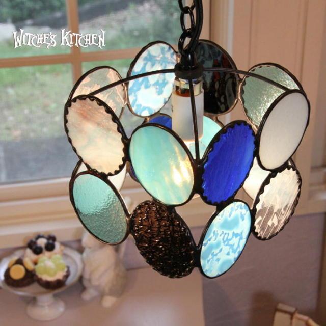 ペンダントランプ 【 ブルーベビー Bluebaby 】 ステンドグラス ペンダントライト LED対応