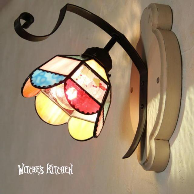 ブラケットランプ 【 スージー Susie 】 ステンドグラス ウォールランプ LED対応