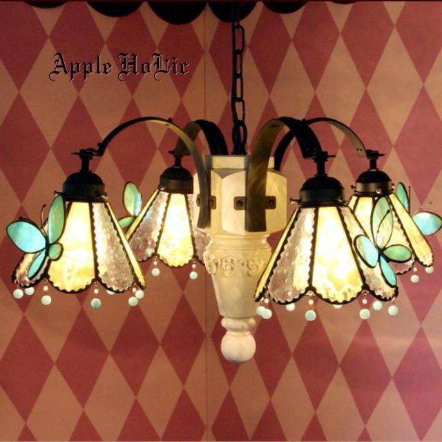 シャンデリア 【 ラビリンス Labyrinth 】 ステンドグラス ペンダントランプ LED対応