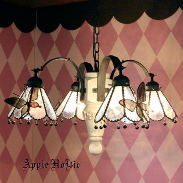 シャンデリア 【 ムーンライト Moonlight 】 ステンドグラス ペンダントランプ LED対応