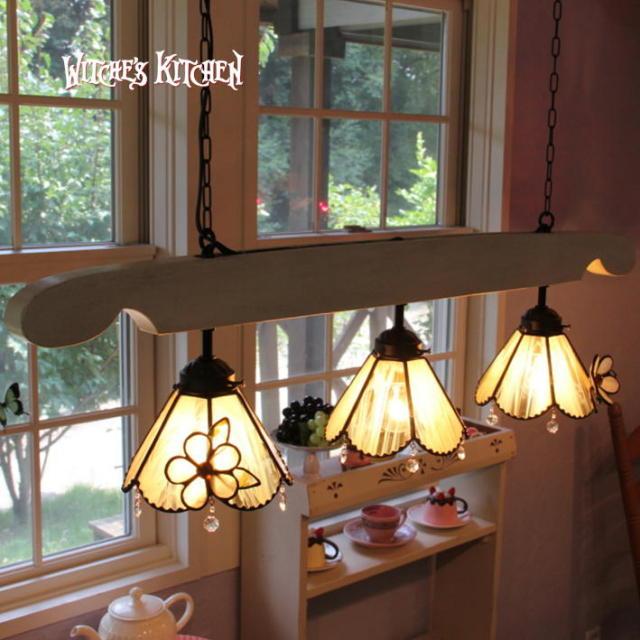3灯ペンダントランプ 【 ペコ・アラモード Pekoe A La Mode 】 ステンドグラス ペンダントライト LED対応