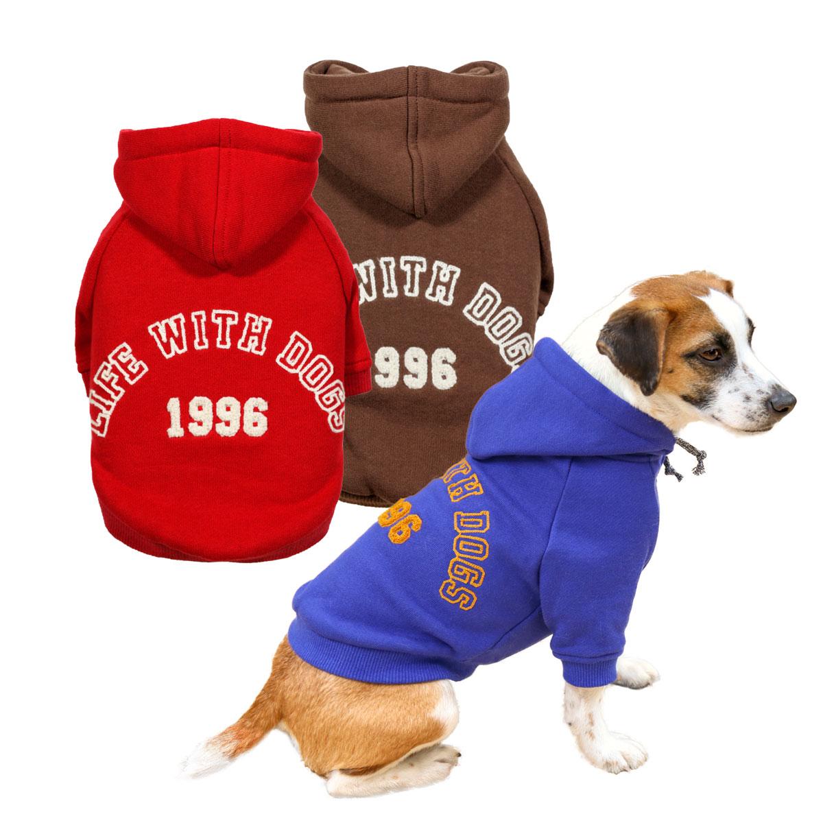 犬と生活 カレッジパーカー