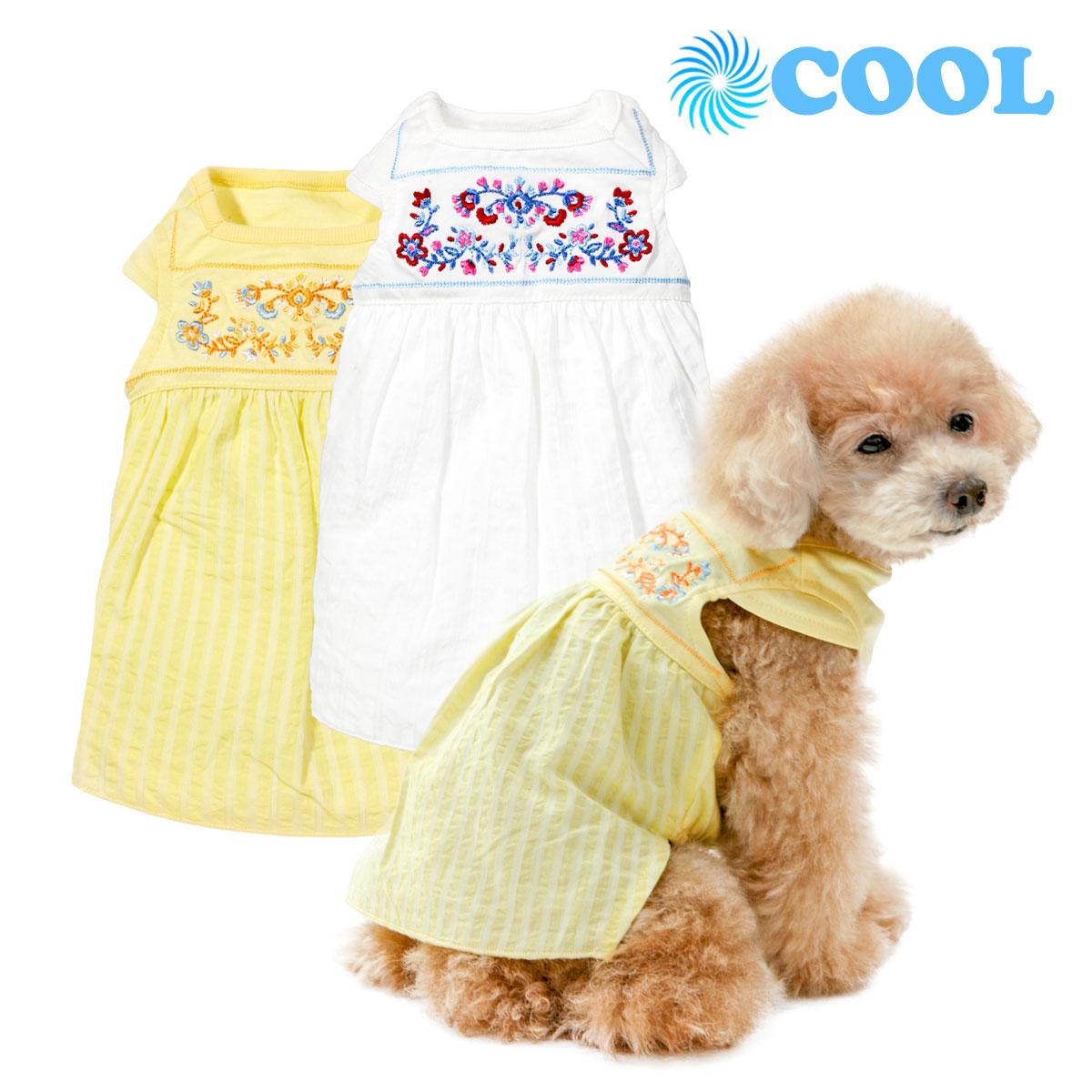 犬と生活 クール刺繍ワンピース