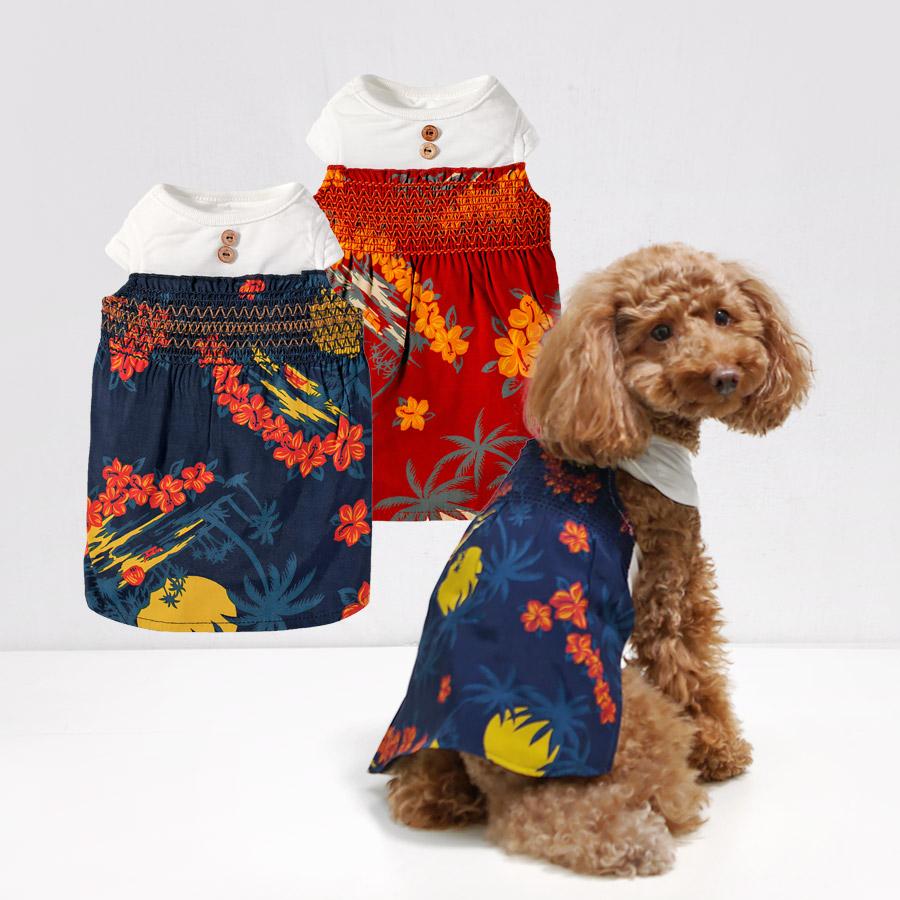 犬と生活 19ssアロハワンピ