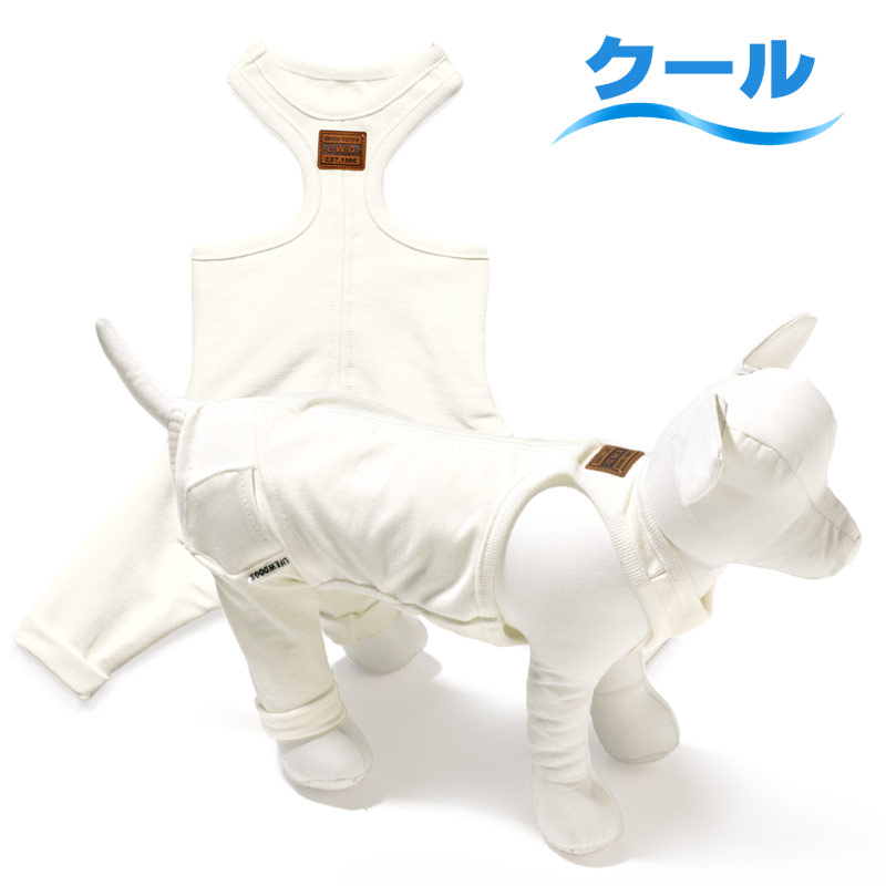 犬と生活 重ね着用パンツクールホワイト