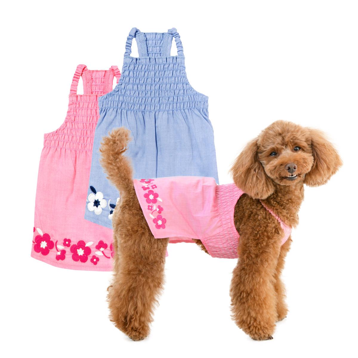 犬と生活 サマーキャミワンピフルール