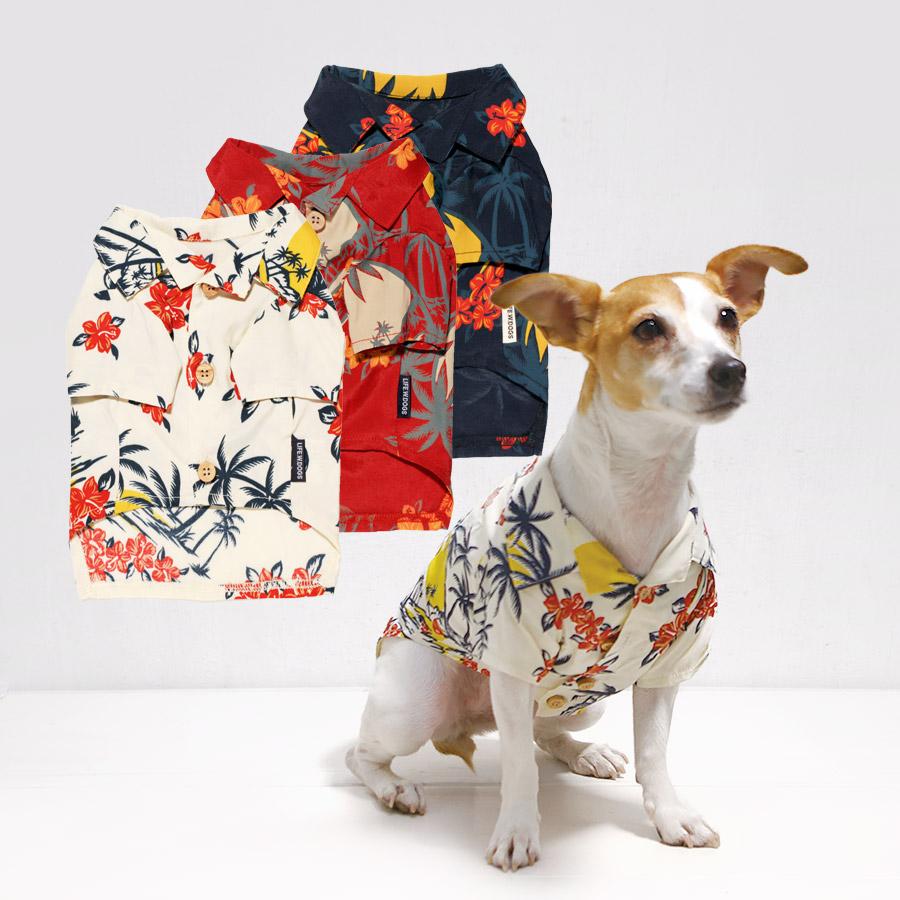 犬と生活 19ssアロハシャツ