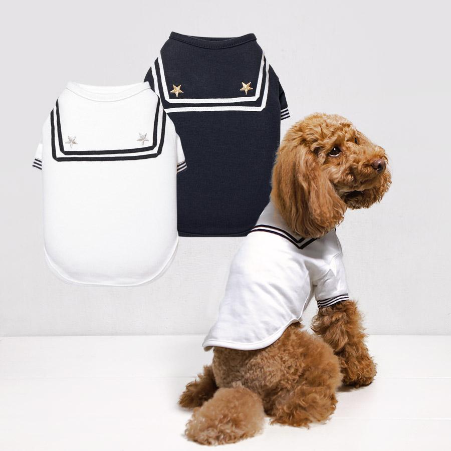 犬と生活 セーラ-Tシャツ