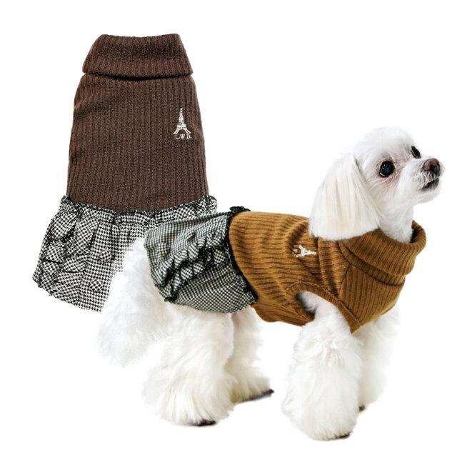 犬と生活 ショコラワンピース