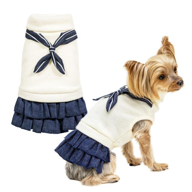 犬と生活 ウィンターマリンワンピース