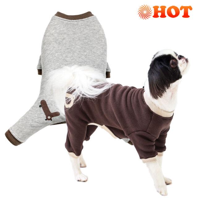 犬と生活 ウォームベアーロンパース