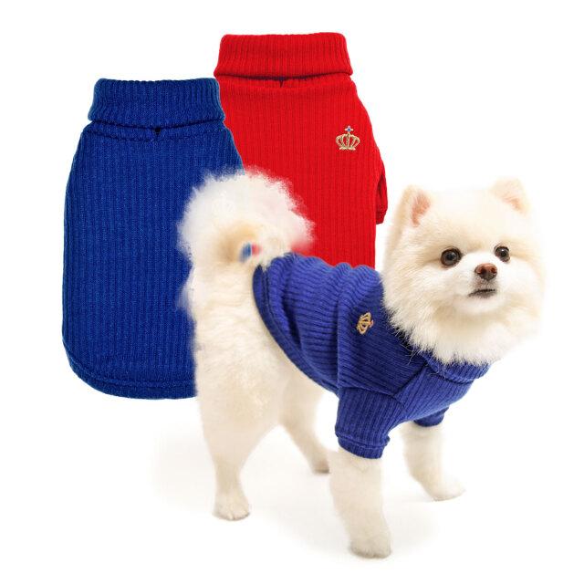 犬と生活 袖付きプレーンタートル