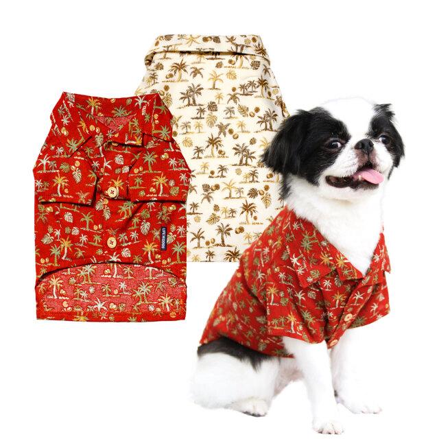 犬と生活 アロハシャツ
