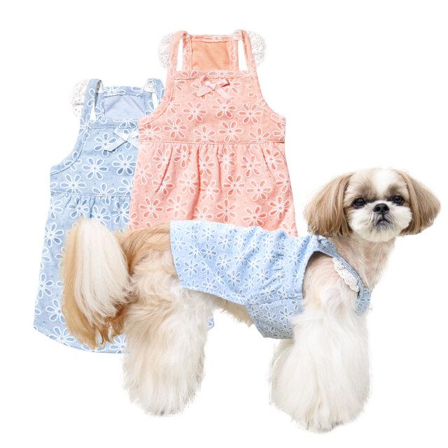犬と生活 フラワーキャミワンピ