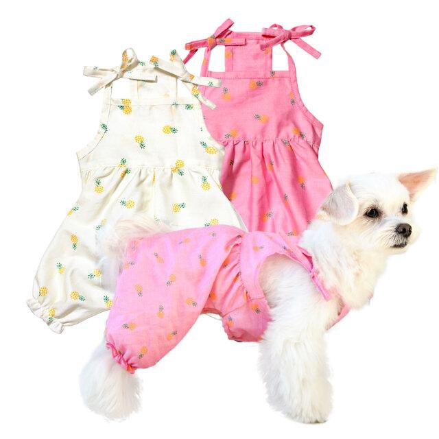 犬と生活 パイナップルパフパンツ