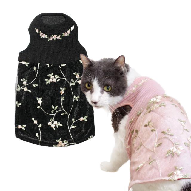猫の暮らし フラワーチュールワンピースキャット