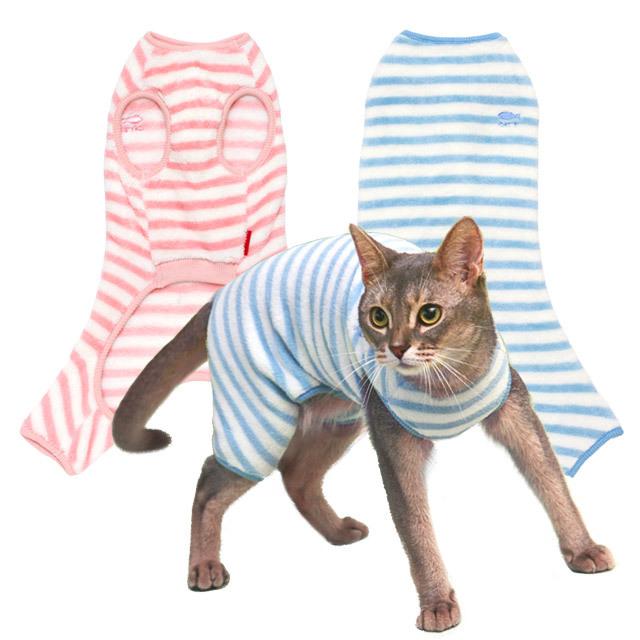 ネコの暮らし モハフリースロンパース