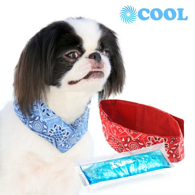 犬と生活 クールネックバンドアロハ|凍らせても固くならない保冷剤付き