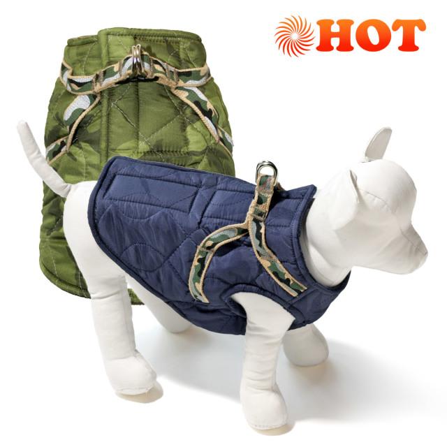 犬と生活 ボディハーネス ダウンロングミリタリー
