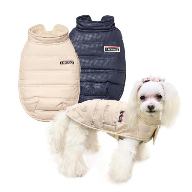 犬と生活 イージーダウン【頭も足も通さず着られる暖かくて軽いダウン風コート】
