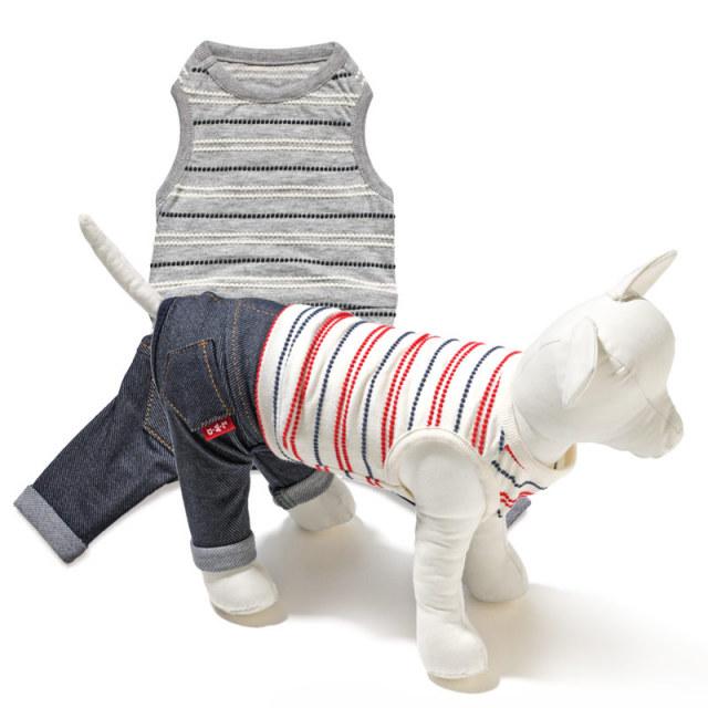 犬と生活 ドロップボーダーパンツ