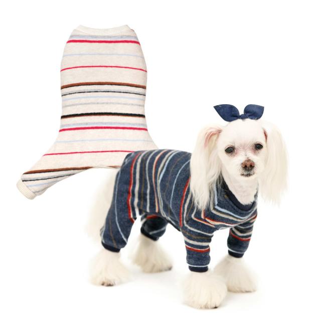 犬と生活 ボーダーロンパース