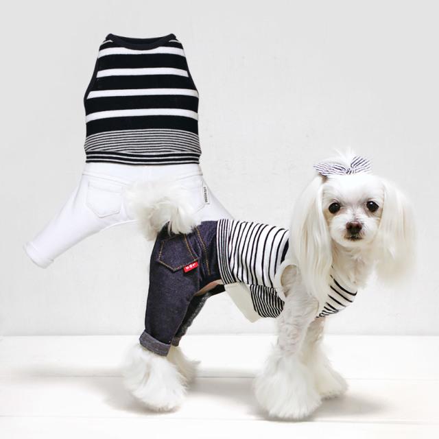 犬と生活 19ssボーダーパンツ