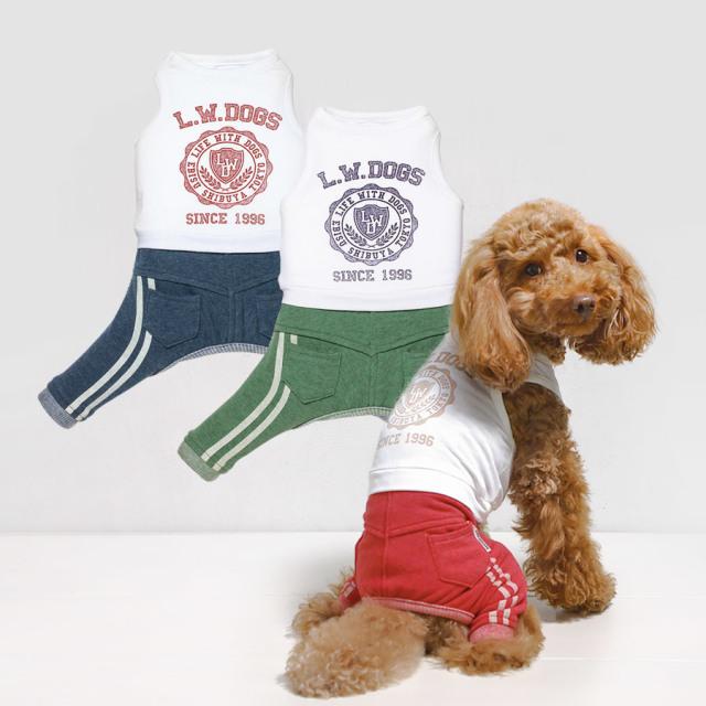 犬と生活 19ssラインパンツ