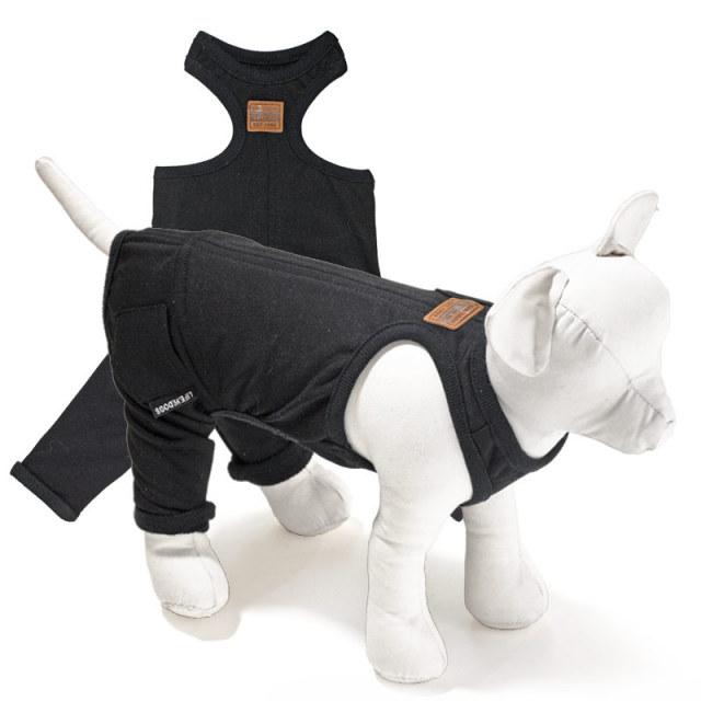 犬と生活 重ね着用パンツブラック