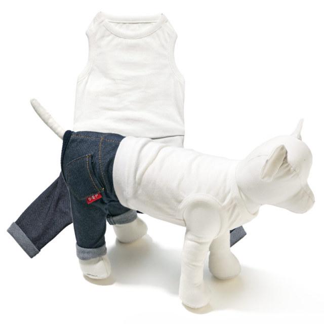 犬と生活 白Tパンツ