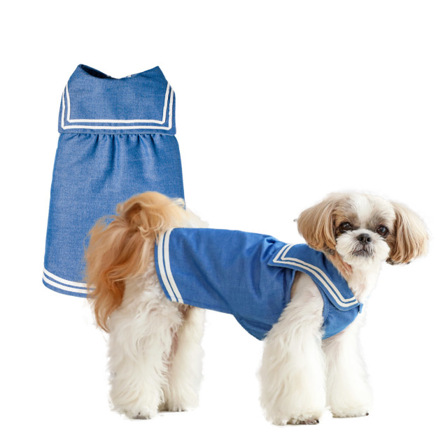 犬と生活 セーラーワンピ