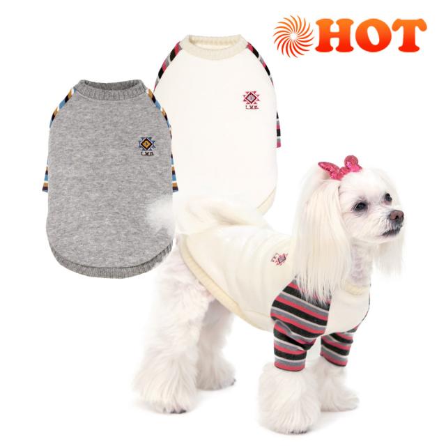 犬と生活 ウォームラグラン ホット機能素材で暖かい小型犬用の冬服