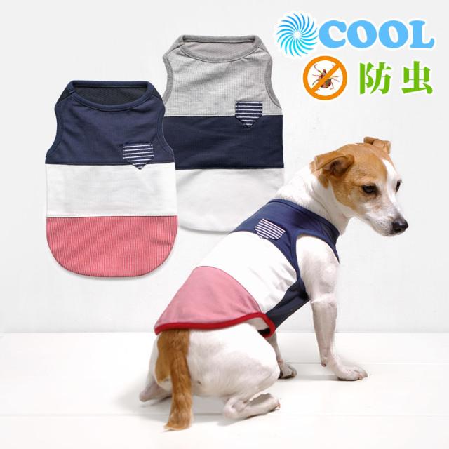 犬と生活 クールパターンタンク