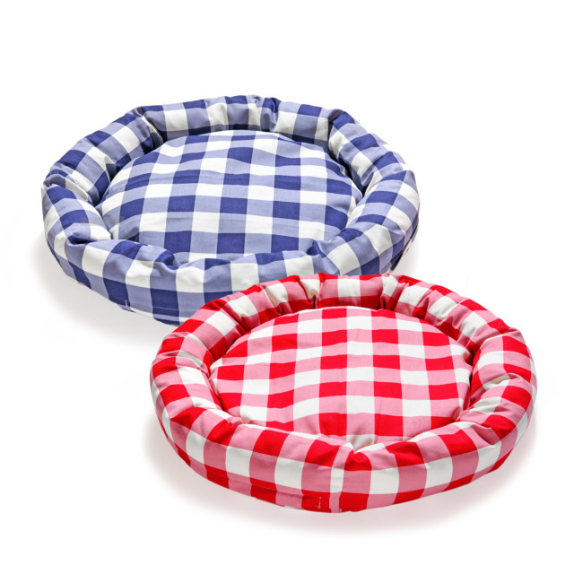 犬と生活 猫の暮らし ロウカドラーギンガム|カバーが外して洗えるペット用ベッド