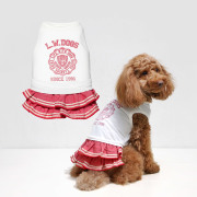 犬と生活 19ssラインフリルスカート