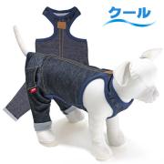 犬と生活 重ね着用パンツ クールデニム