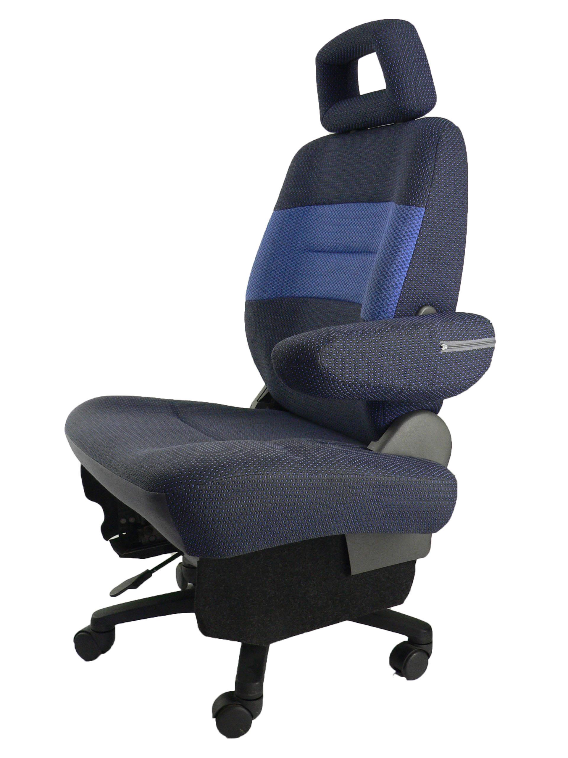 スズキワゴンR MC21S★自動車シートがリクライニングチェアー(デスクチェア)に、環境と健康に優しい椅子。