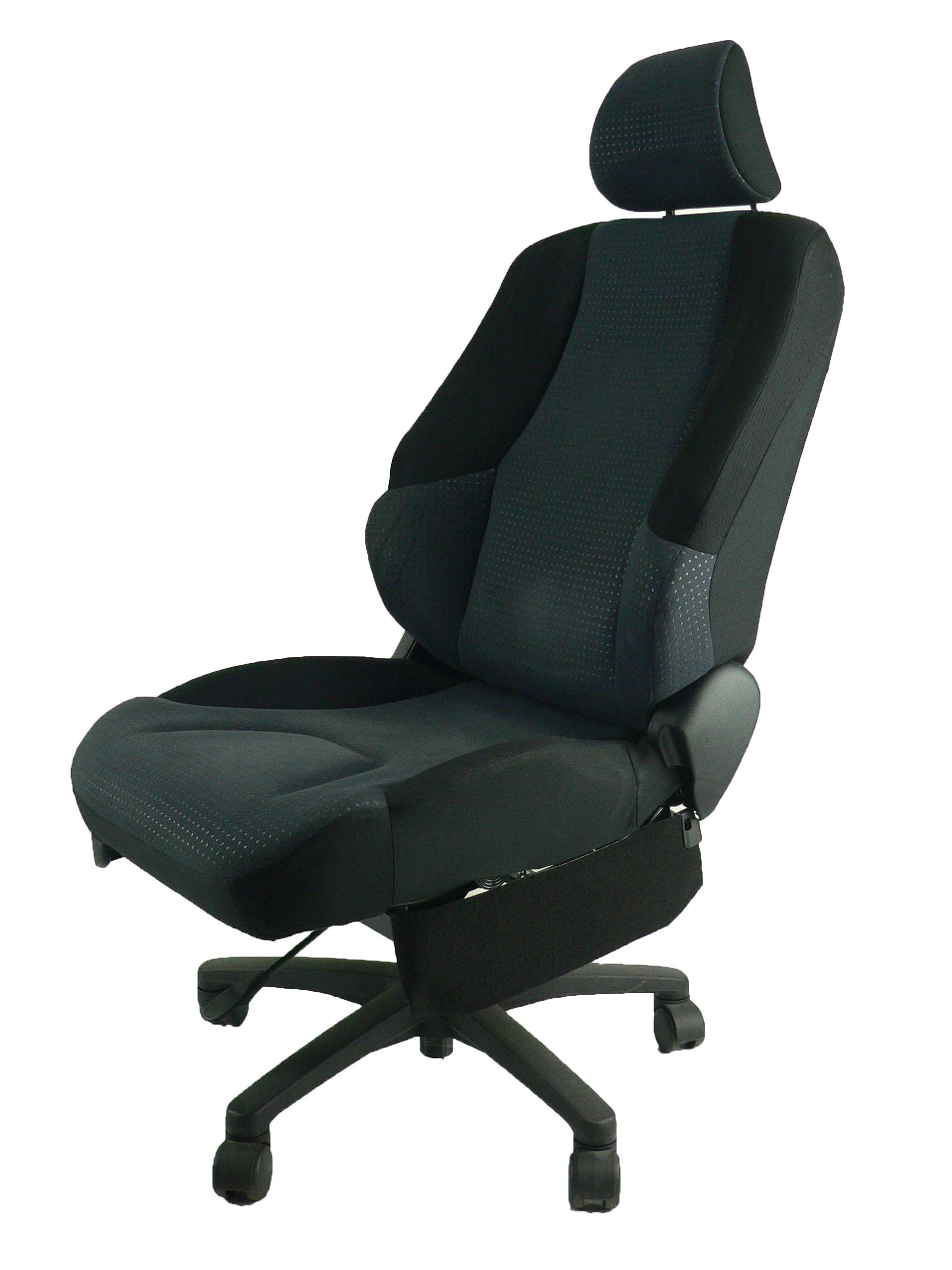 ホンダ フィットGE6★自動車シートがリクライニングチェアー(デスクチェア)に、環境と健康に優しい椅子。実用的な椅子。