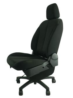 マツダデミオDEJFS★自動車シートがリクライニングチェアー(デスクチェア)に、環境と健康に優しい椅子。コンパクトです!